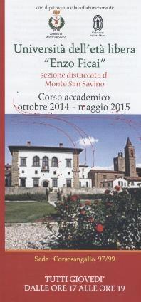 Monte San Savino: Via all'Anno Accademico dell'Università dell'Età Libera