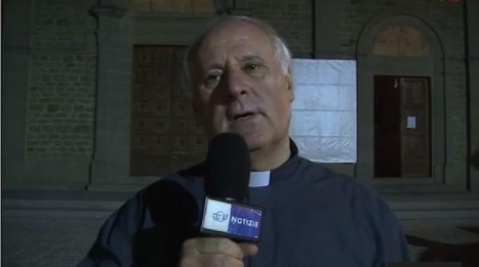 Il Sindaco Basanieri saluta Don Giancarlo Rapaccini che lascia la Cattedrale di Cortona