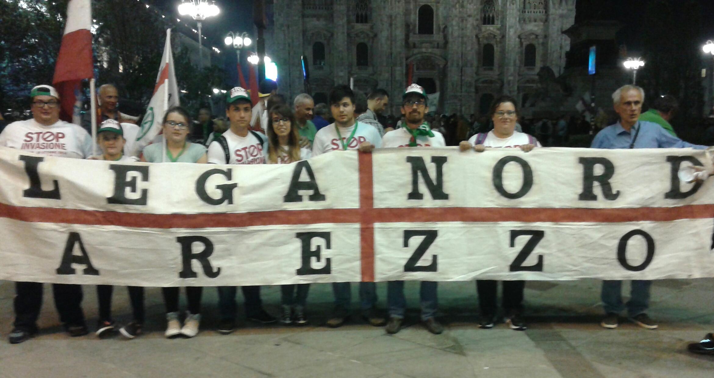 Lega Nord alla manifestazione di Milano per il No all'immigrazione incontrollata