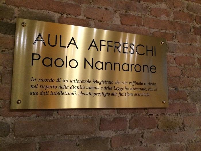 Una targa in ricordo di Paolo Nannarone al Tribunale di Perugia