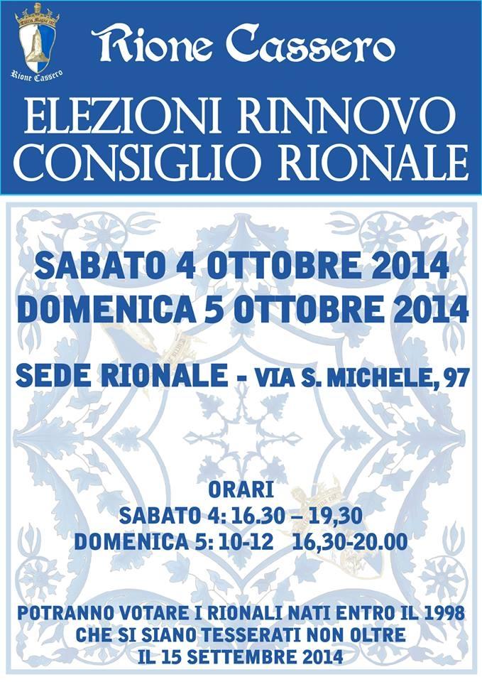 Rione Cassero: elezioni per il rinnovo del Consiglio