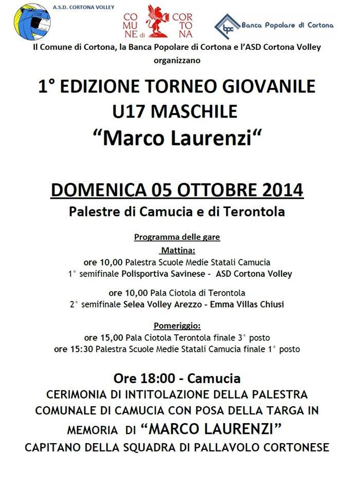 Cortona: quadrangolare di volley in memoria di Marco Laurenzi