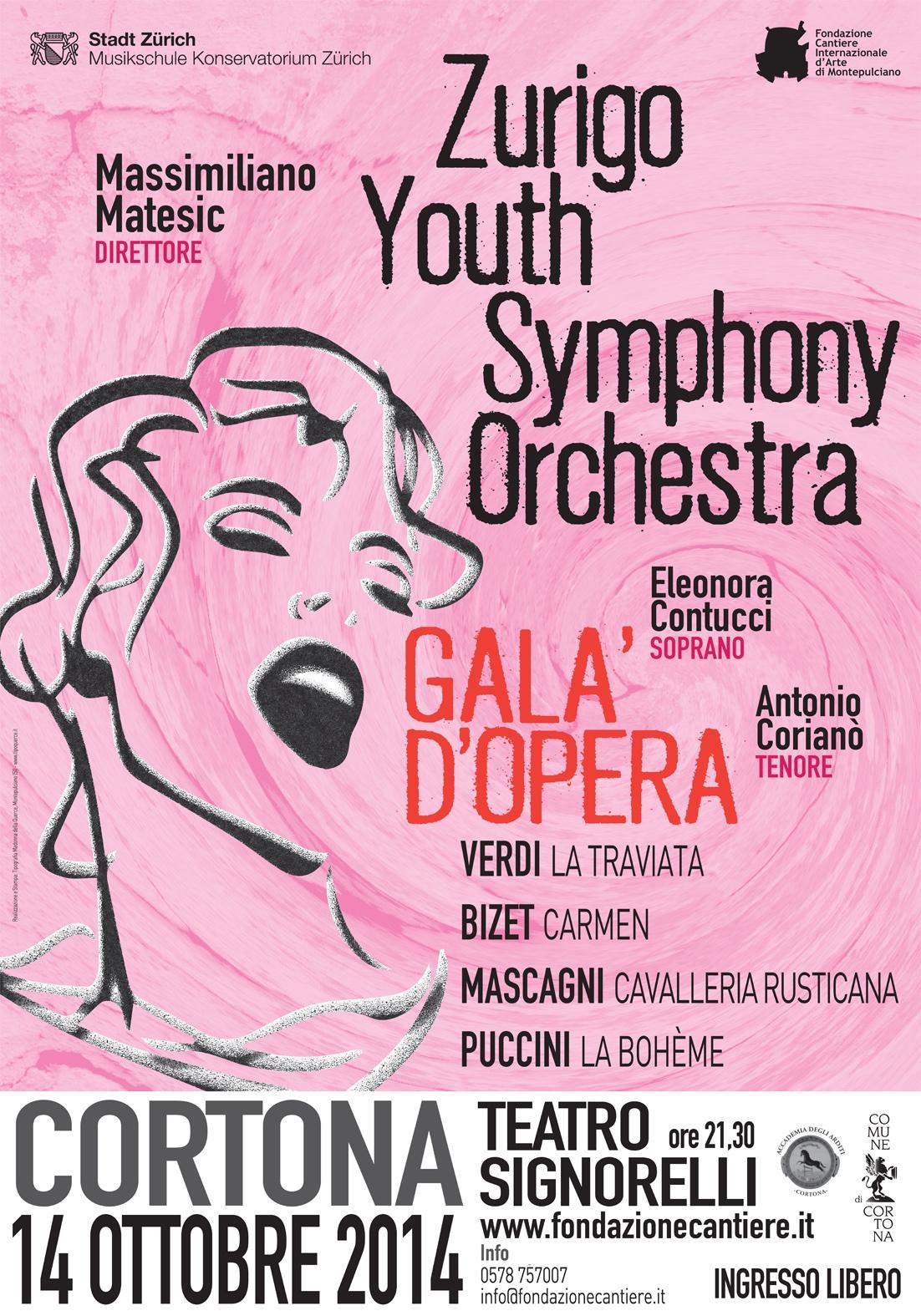 Galà dell'Opera a Cortona con la Zurigo Youth Symphony Orchestra
