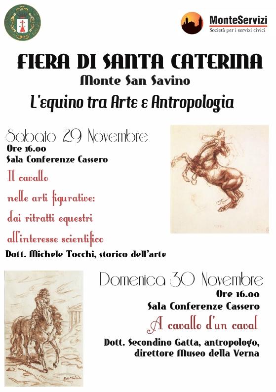 L'Equino tra arte e antropologia, due conferenze a Monte San Savino per la Fiera di Santa Caterina
