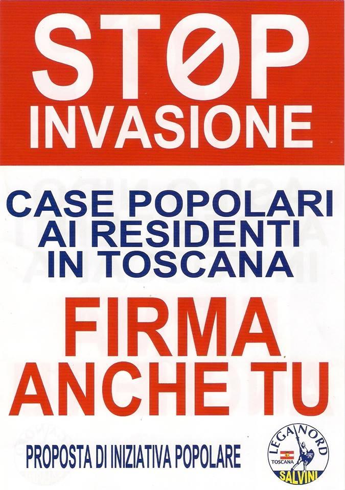 Lega Nord: raccolta firme per dare priorità agli italiani negli accessi alle case popolari