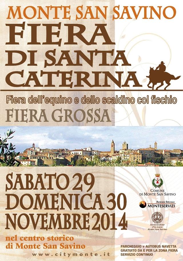 Fiera di Santa Caterina a Monte San Savino: programma completo e info