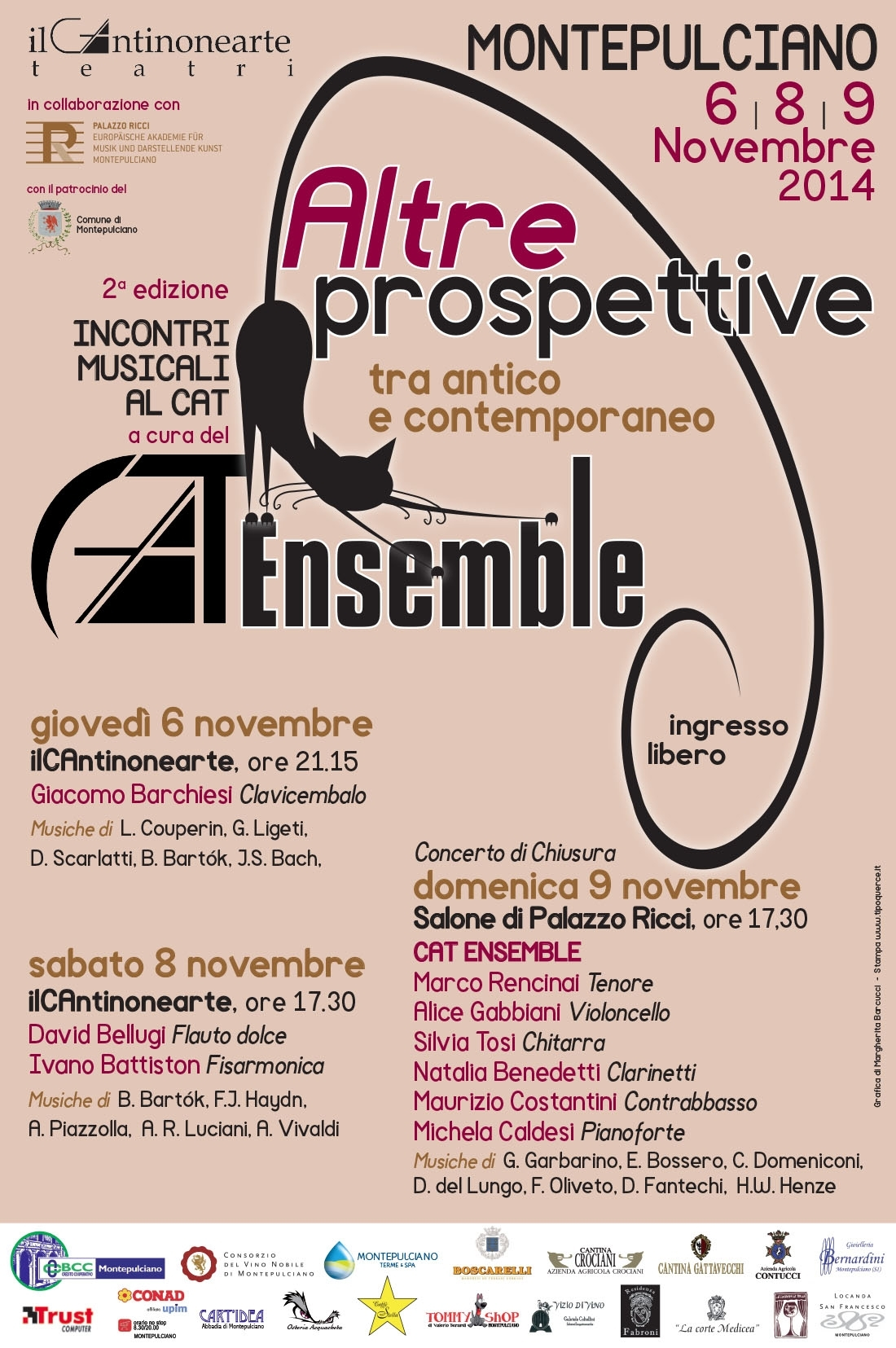 Montepulciano: settimana di eventi musicali con Cat Ensemble