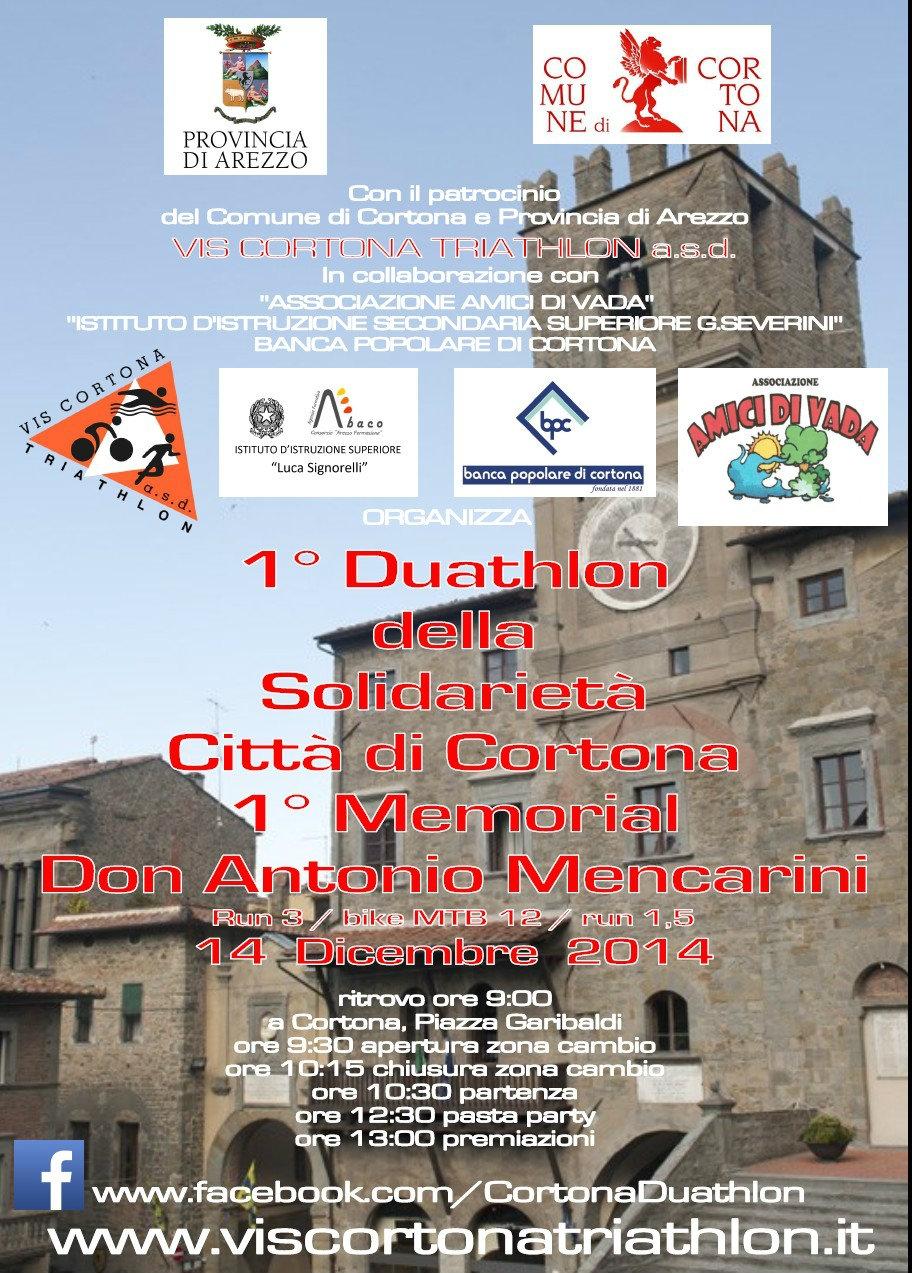 A Cortona il Duathlon della solidarietà in memoria di Don Antonio Mencarini