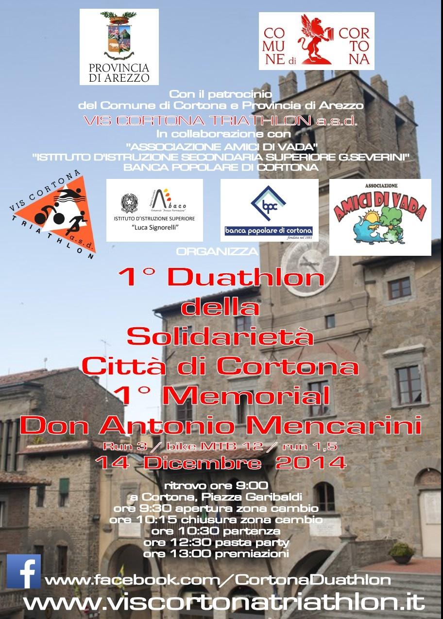 A Cortona gara di Duathlon in memoria di Don Antonio Mencarini