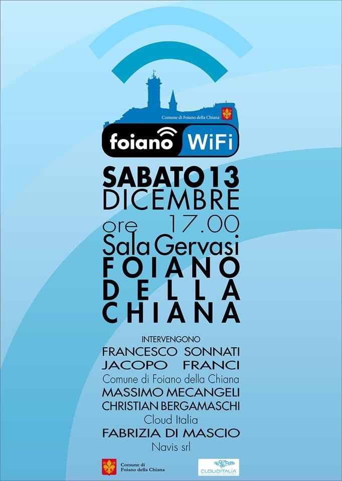 Linea Wi - Fi gratuita in arrivo per Foiano e Pozzo