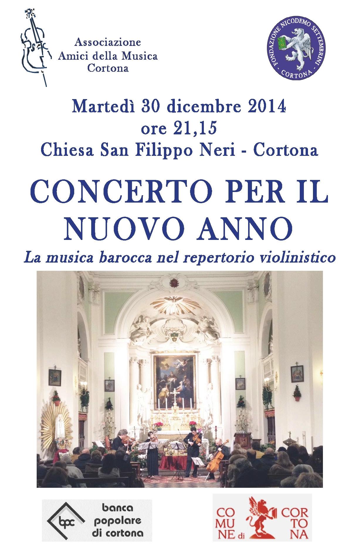 Cortona, 'Concerto per il nuovo anno' a San Filippo