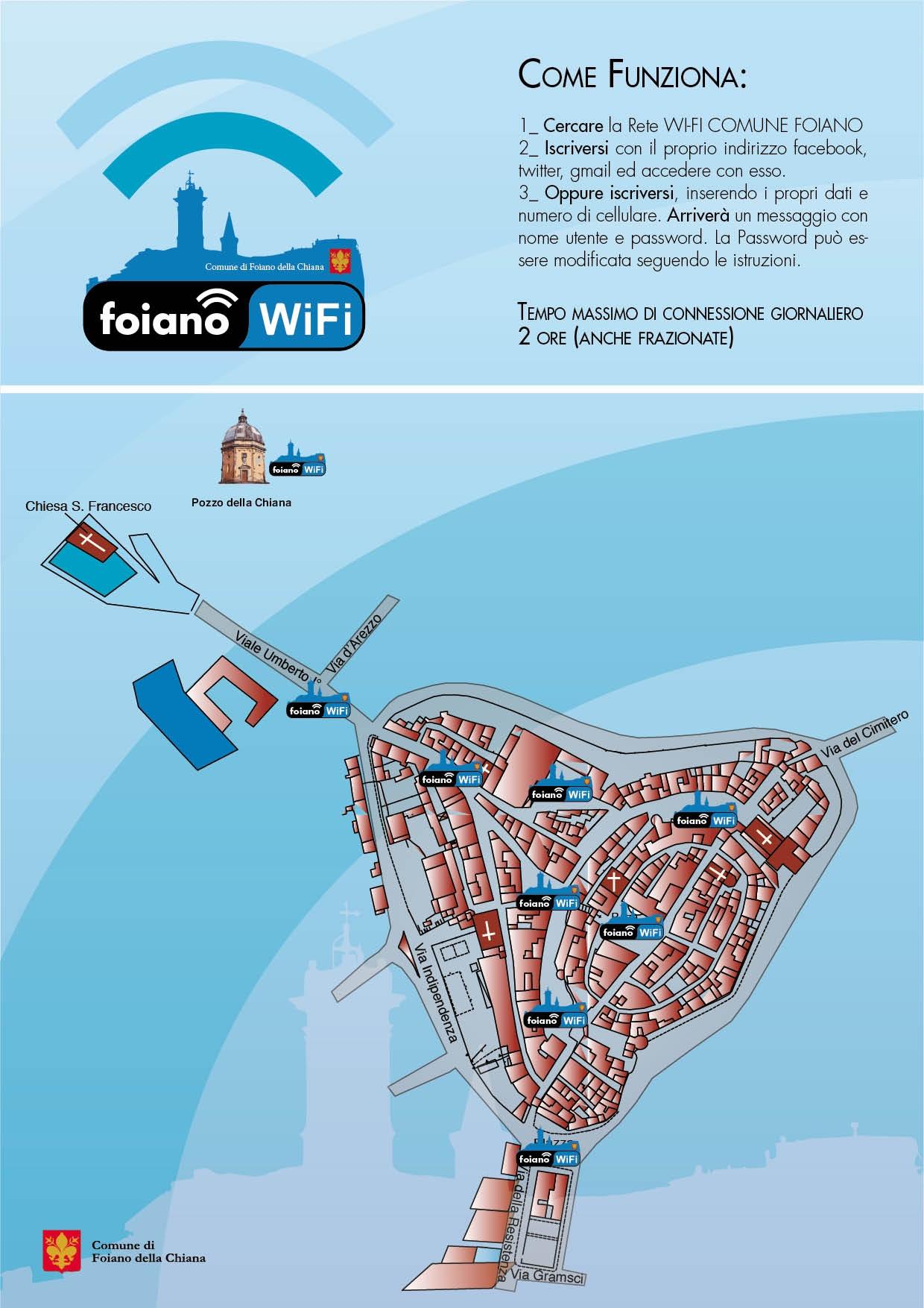 Da oggi attiva 'Foiano Wi-fi'