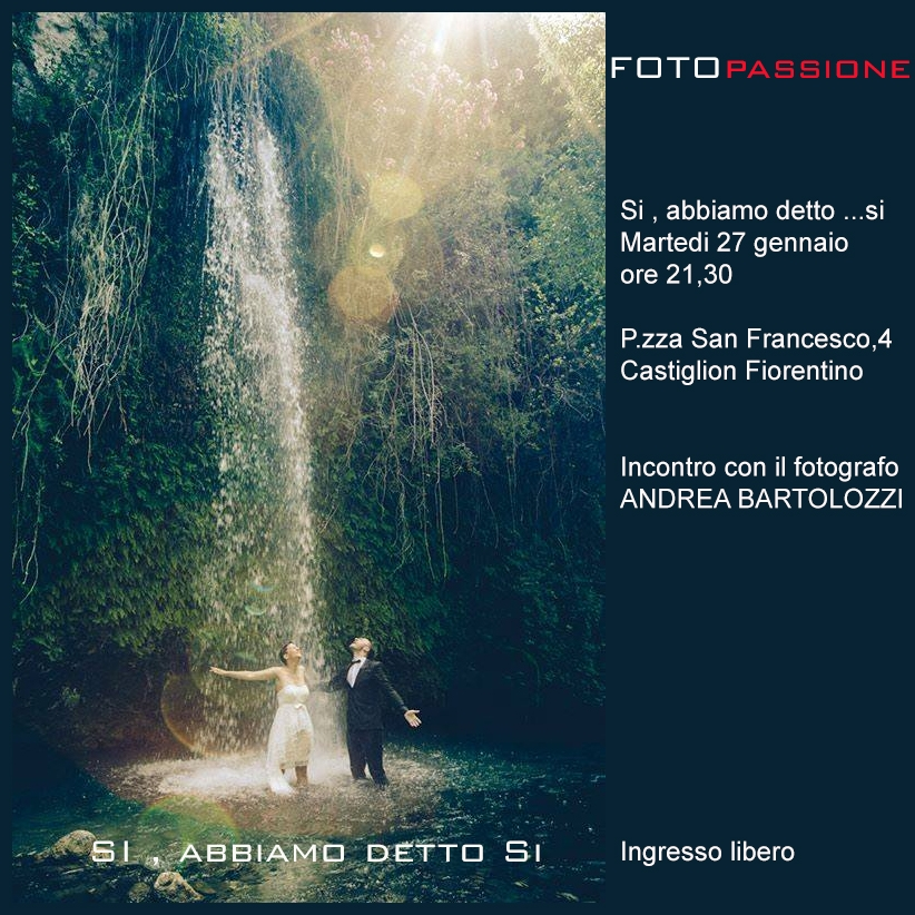 Andrea Bartolozzi ospite di 'FotoPassione'