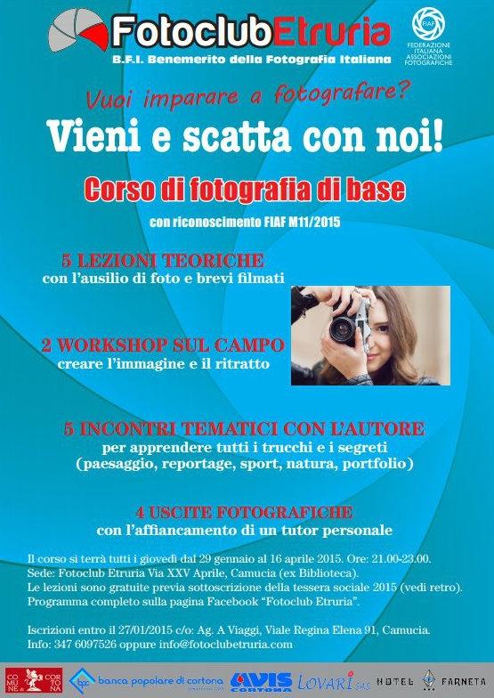 Corso di fotografia di base con il FotoClub Etruria