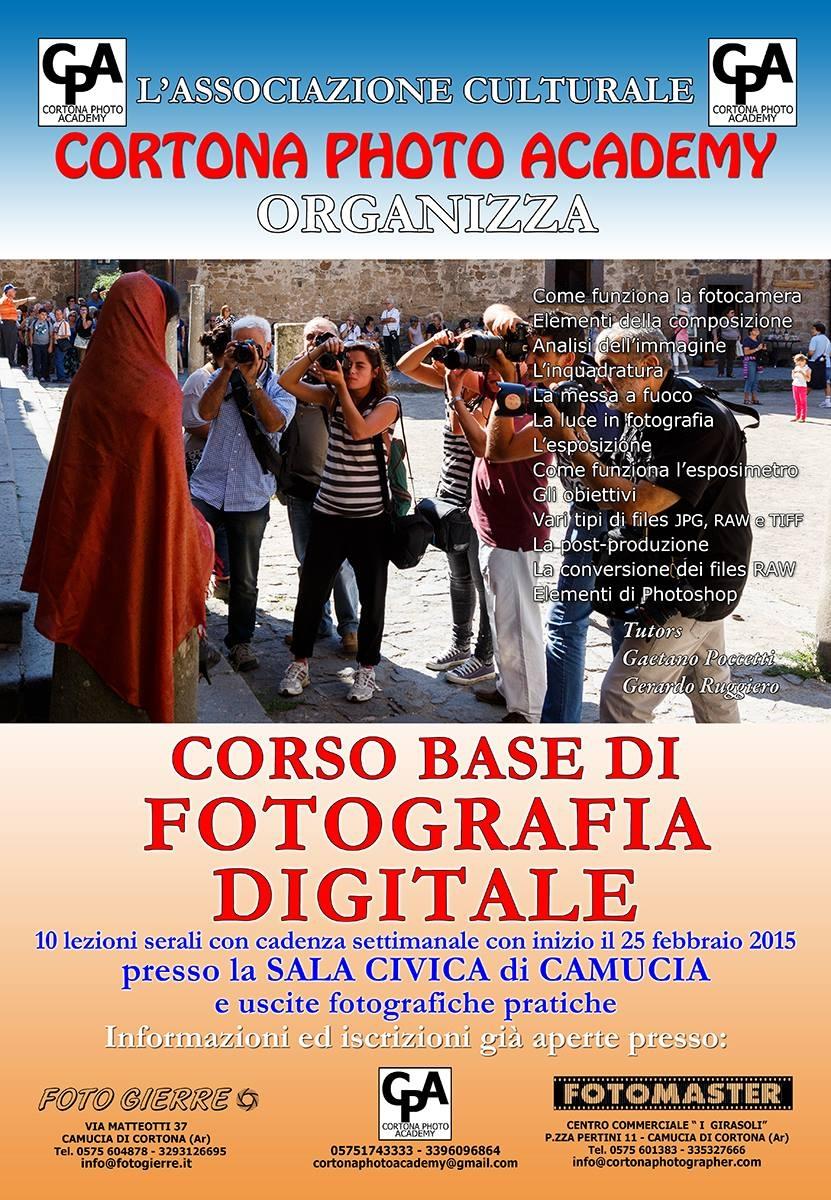 Corso di fotografia digitale promosso da Cortona Photo Academy