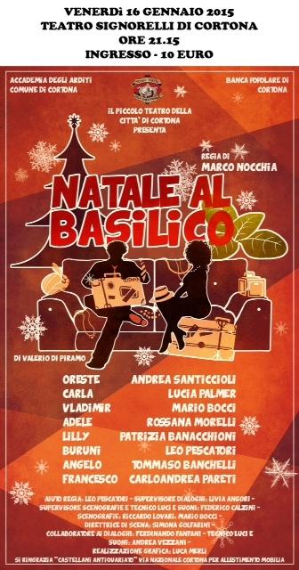 'Natale al Basilico' torna in scena il Piccolo Teatro di Cortona