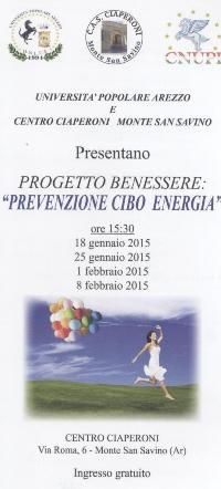 Monte San Savino: via al Progetto Benessere 'Prevenzione Cibo Energia'