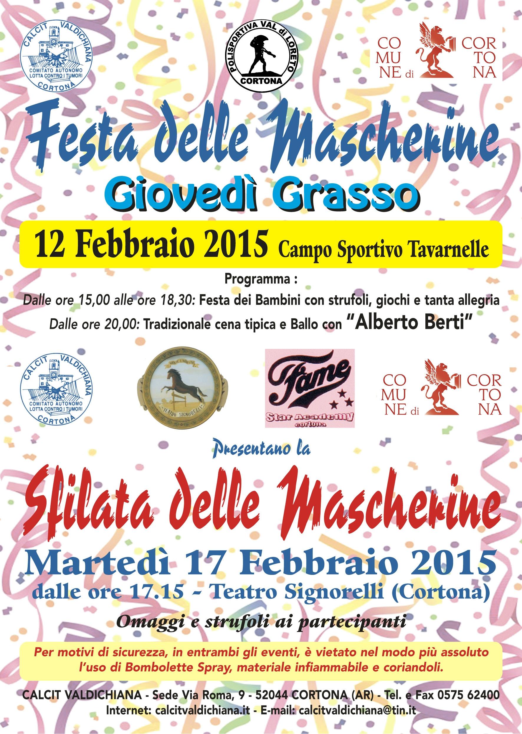 Carnevale col Calcit a Cortona: ecco le iniziative