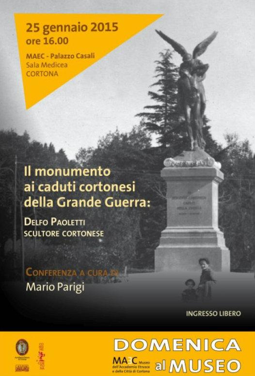 'Il Monumento ai caduti cortonesi della Grande Guerra