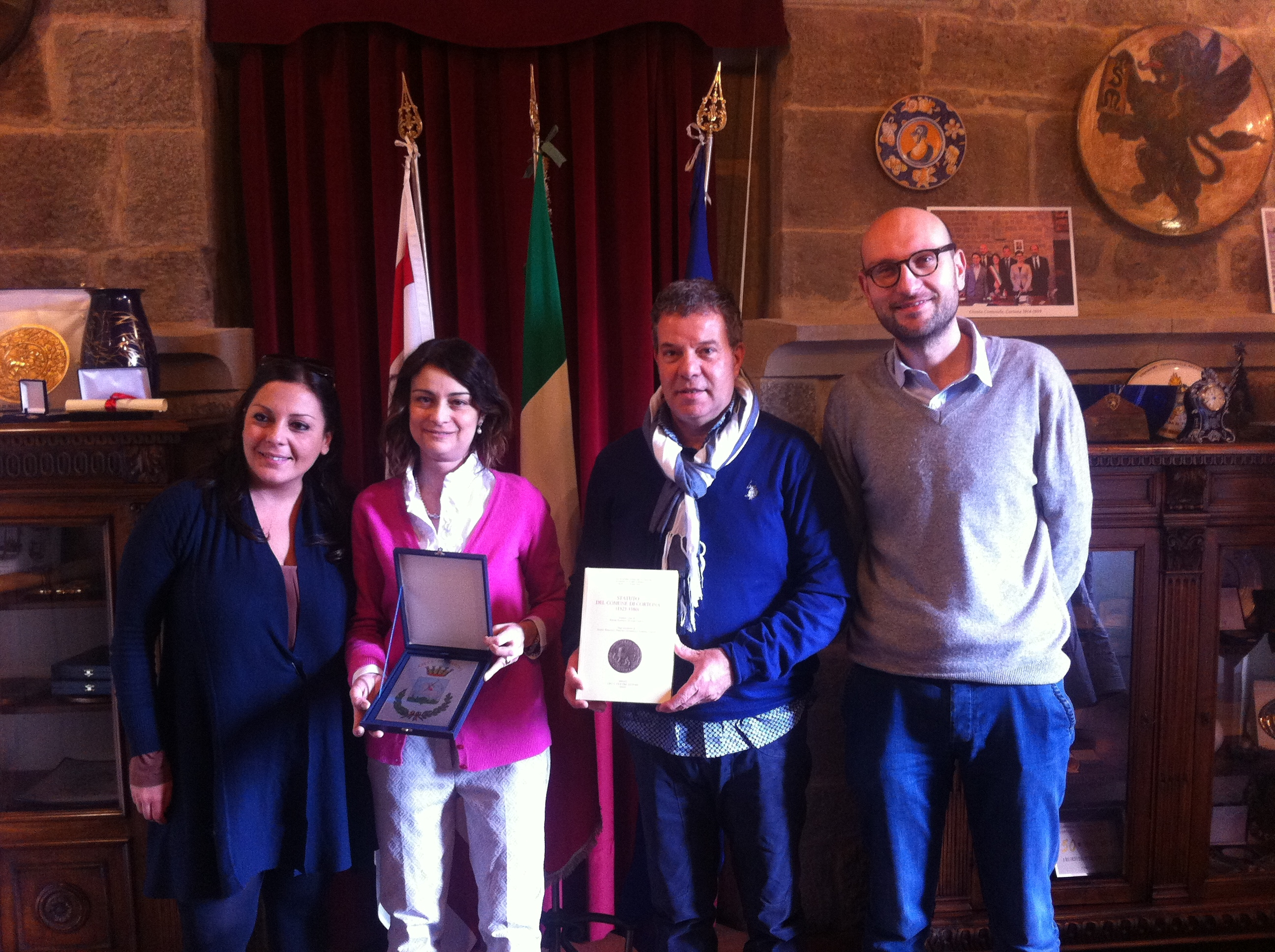 Una delegazione di Marino in visita a Cortona