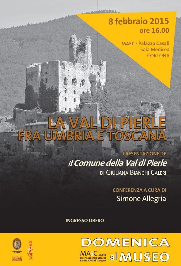 'Il Comune della Val di Pierle', presentazione del libro di Giuliana Bianchi Caleri a Cortona