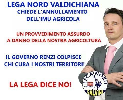 Lega Nord in piazza contro l'Imu Agricola