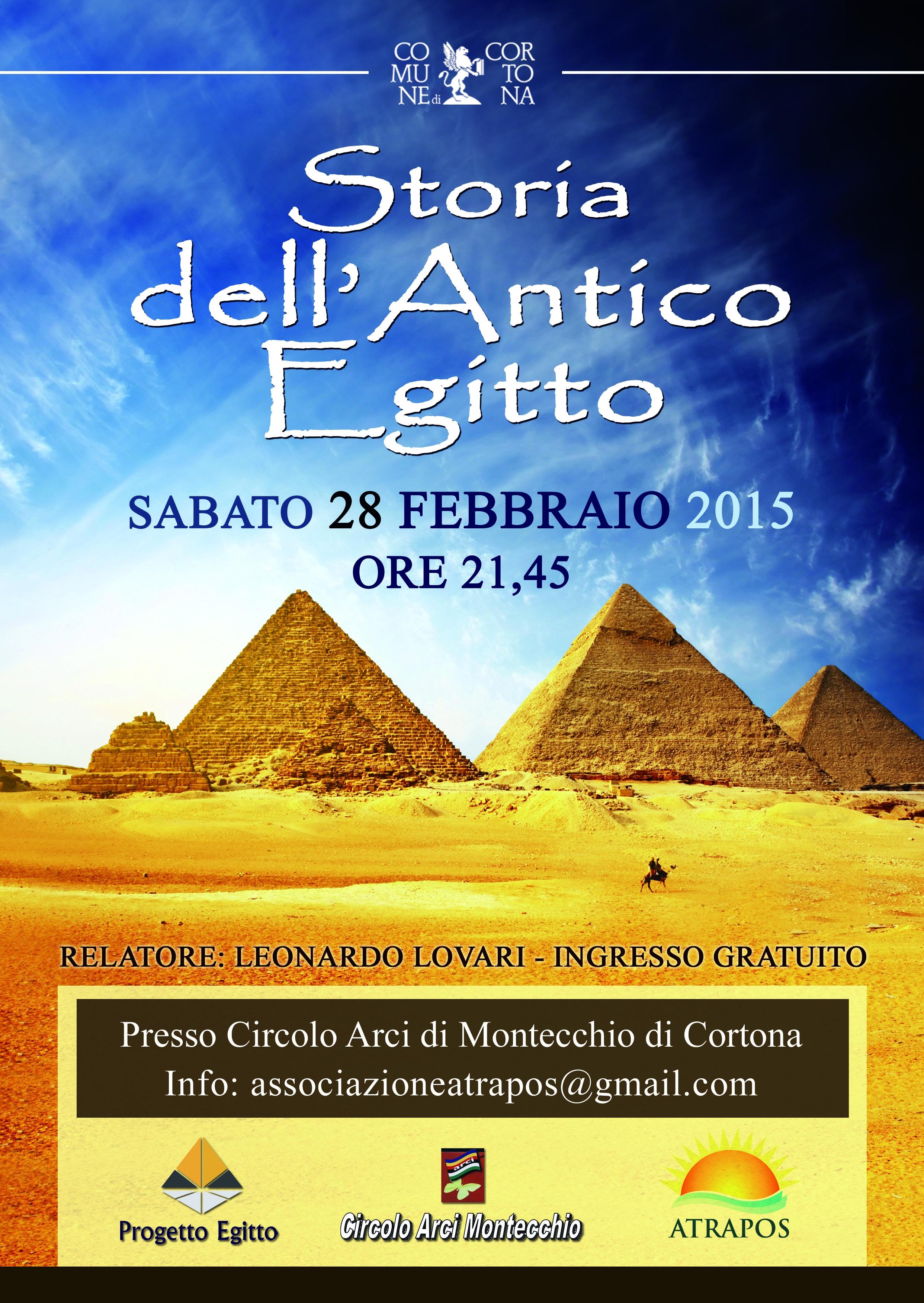 Storia dell'Antico Egitto, conferenza di Leonardo Lovari a Montecchio