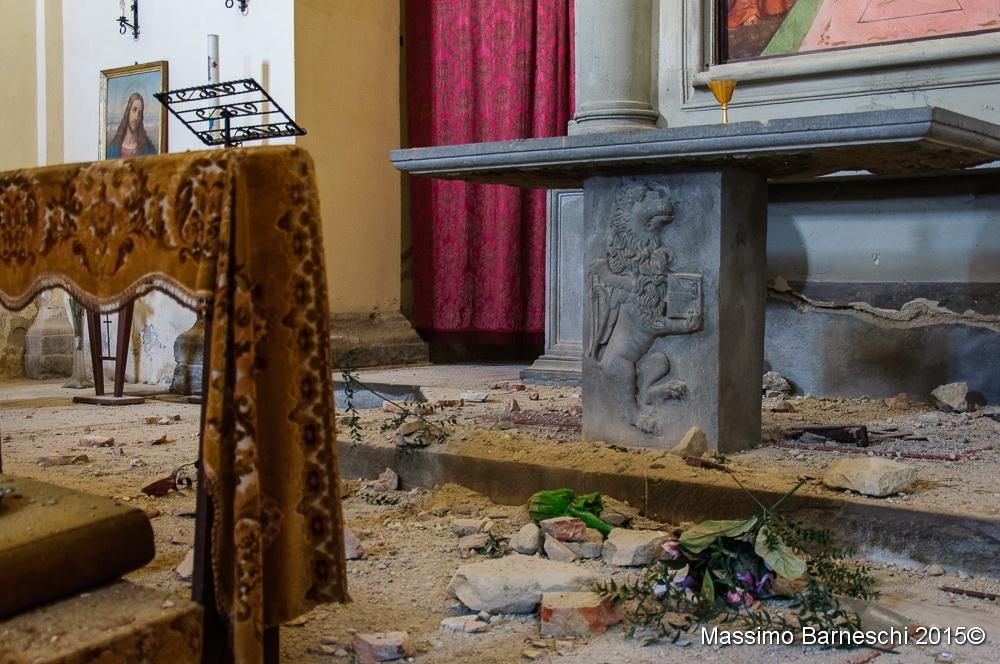 Chiesa di Mezzavia: le foto dopo il crollo del campanile
