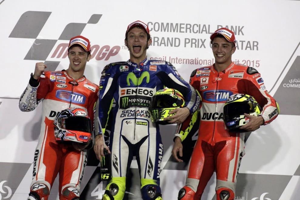 Moto GP: in Qatar dominio italiano, tre centauri e due moto tricolori sul podio