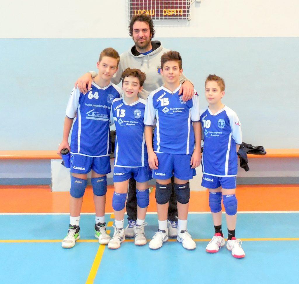 Under 13 del Cortona Volley campione interprovinciale