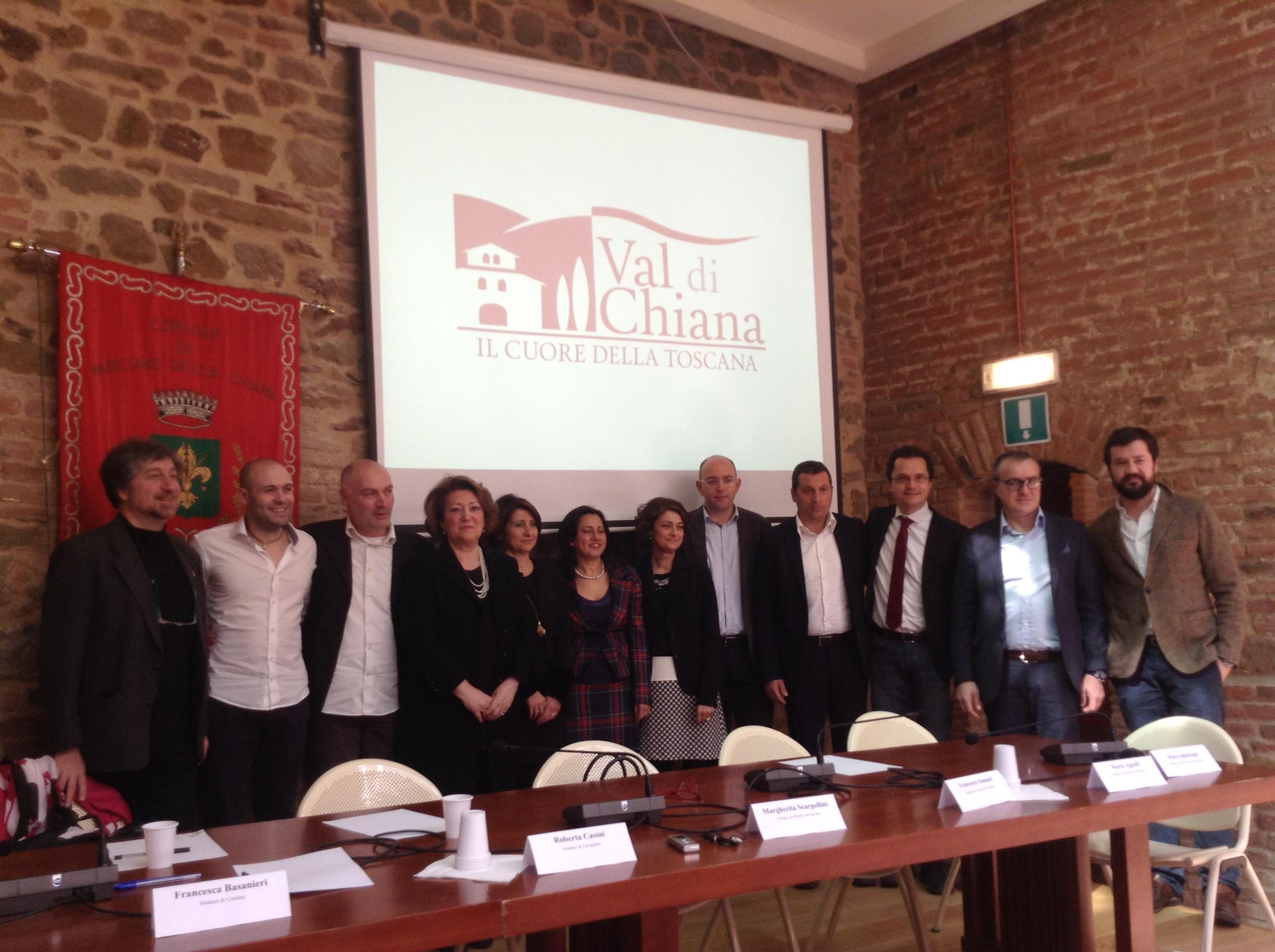 Valdichiana all'Expo: presentato il progetto e il logo dei Comuni