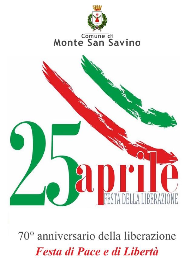 25 Aprile: Festa di Pace e di Libertà