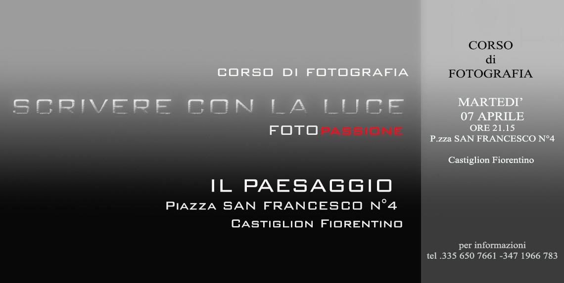 Nuovo appuntamento con 'Scrivere con la luce' il corso di FotoPassione