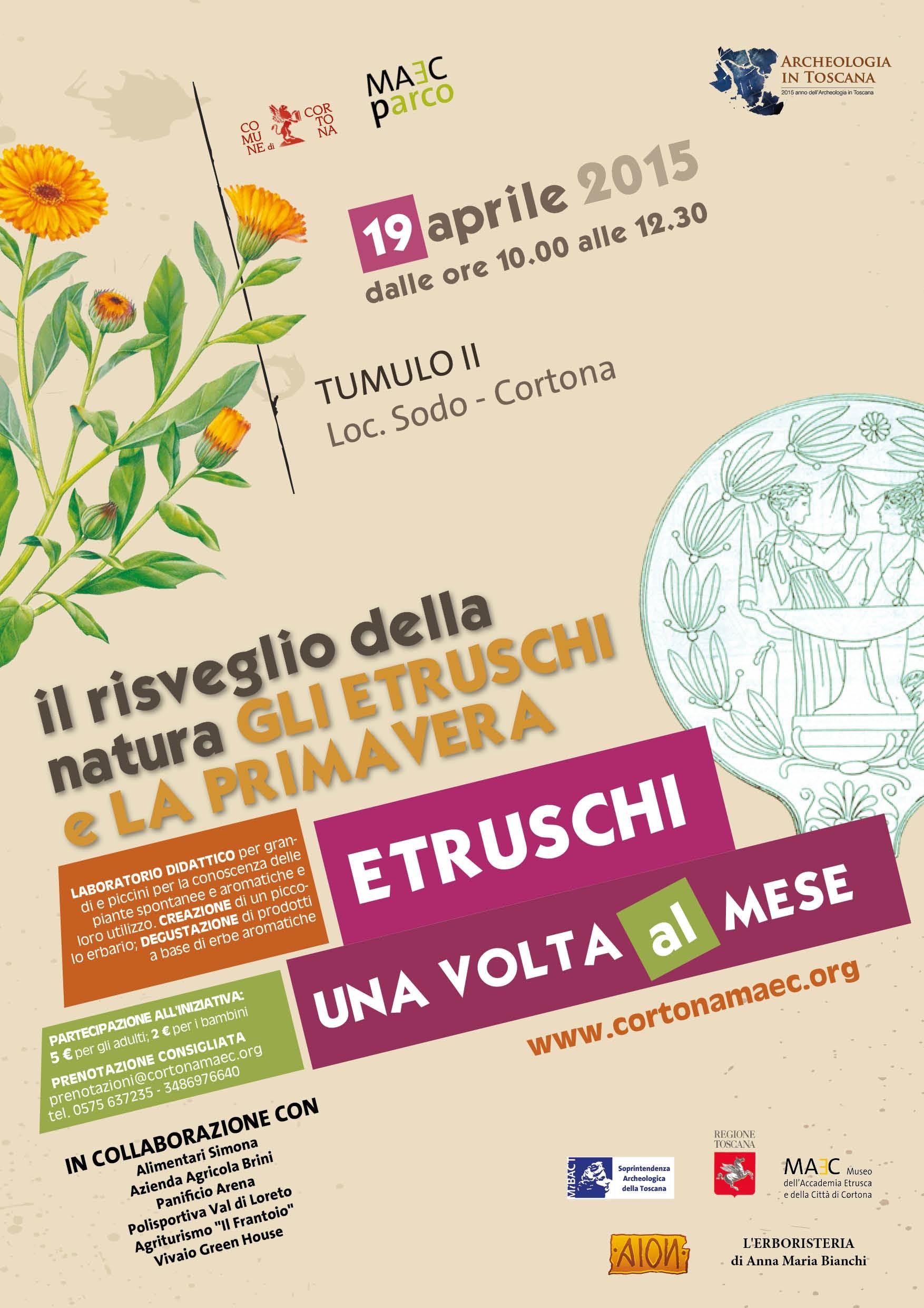 Gli Etruschi e la Primavera, nuova iniziativa al Parco Archeologico di Cortona