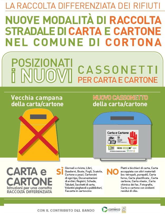 Cortona, nuovi raccoglitori per carta e cartone nel territorio comunale