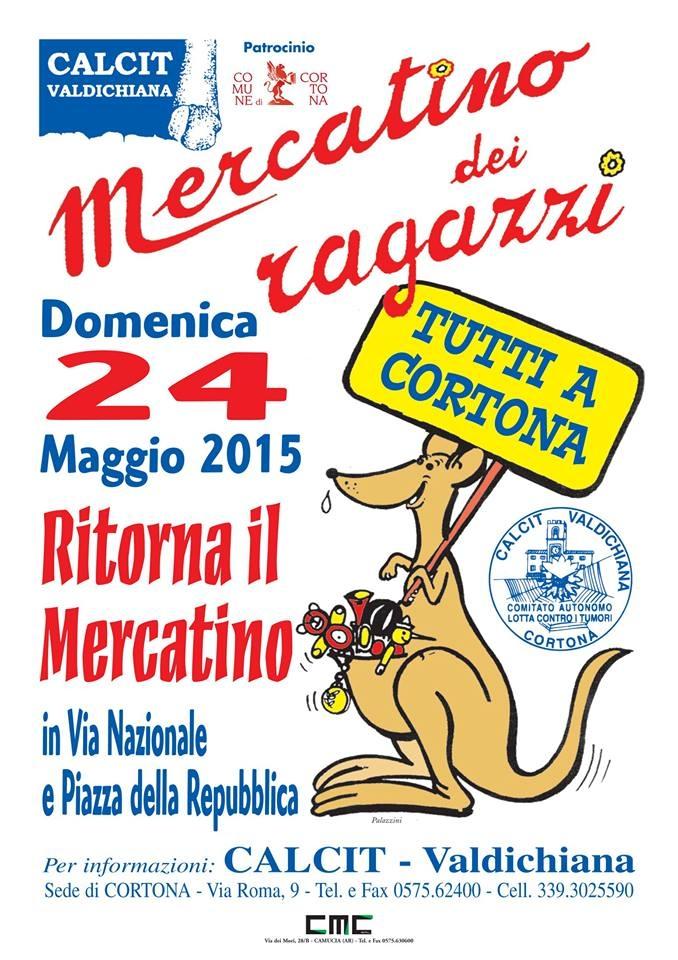 Torna domenica a Cortona il Mercatino del Calcit
