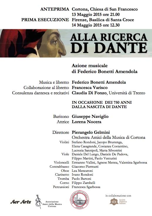'Alla Ricerca di Dante', spettacolo in occasione dell'Anno Dantesco