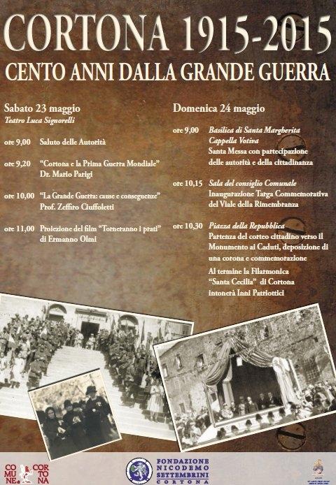Cent'anni dalla Grande Guerra, iniziative a Cortona