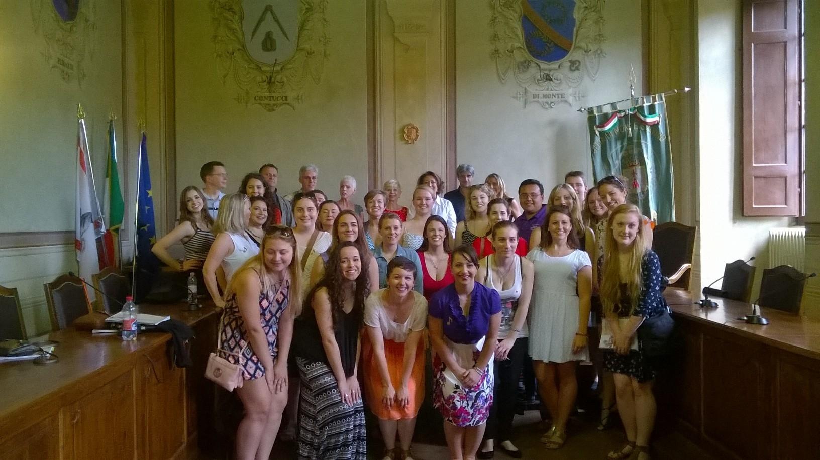Studenti USA a Monte San Savino per un progetto che coinvolge College e Università