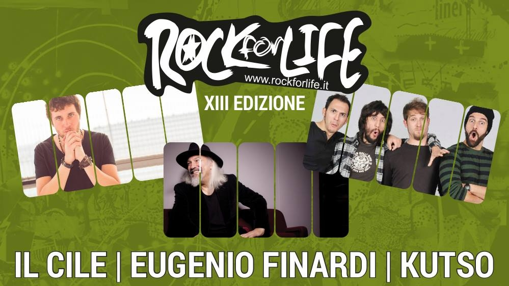 Il Cile, Finardi, Kutso a Città della Pieve per 'Rock for Life'