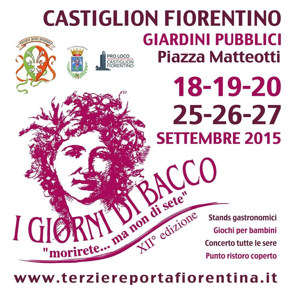 I Giorni di Bacco, torna la kermesse a Castiglion Fiorentino