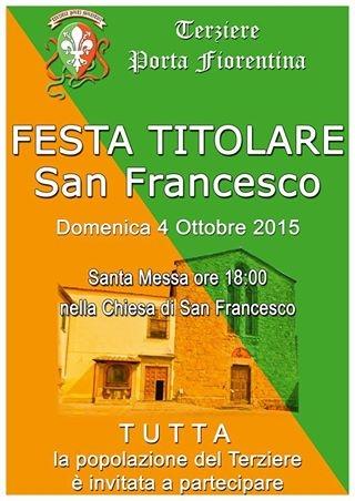 Festa titolare nella Chiesa di San Francesco per il Terziere Porta Fiorentina