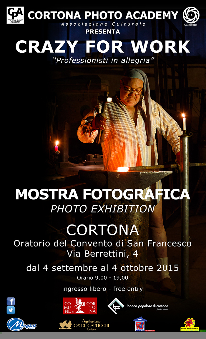 Crazy for Work, venerdì l'inaugurazione della mostra a Cortona