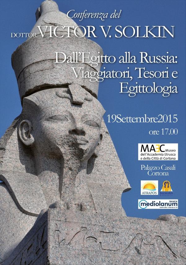 Dall'Egitto alla Russia, conferenza a Cortona con Victor Solkin