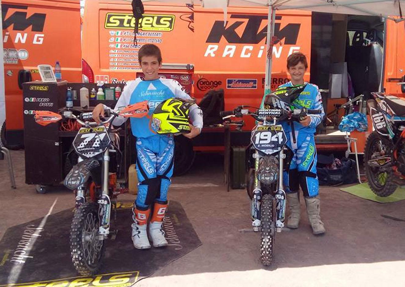 Due piloti di Steels ai campionati italiani di Motocross