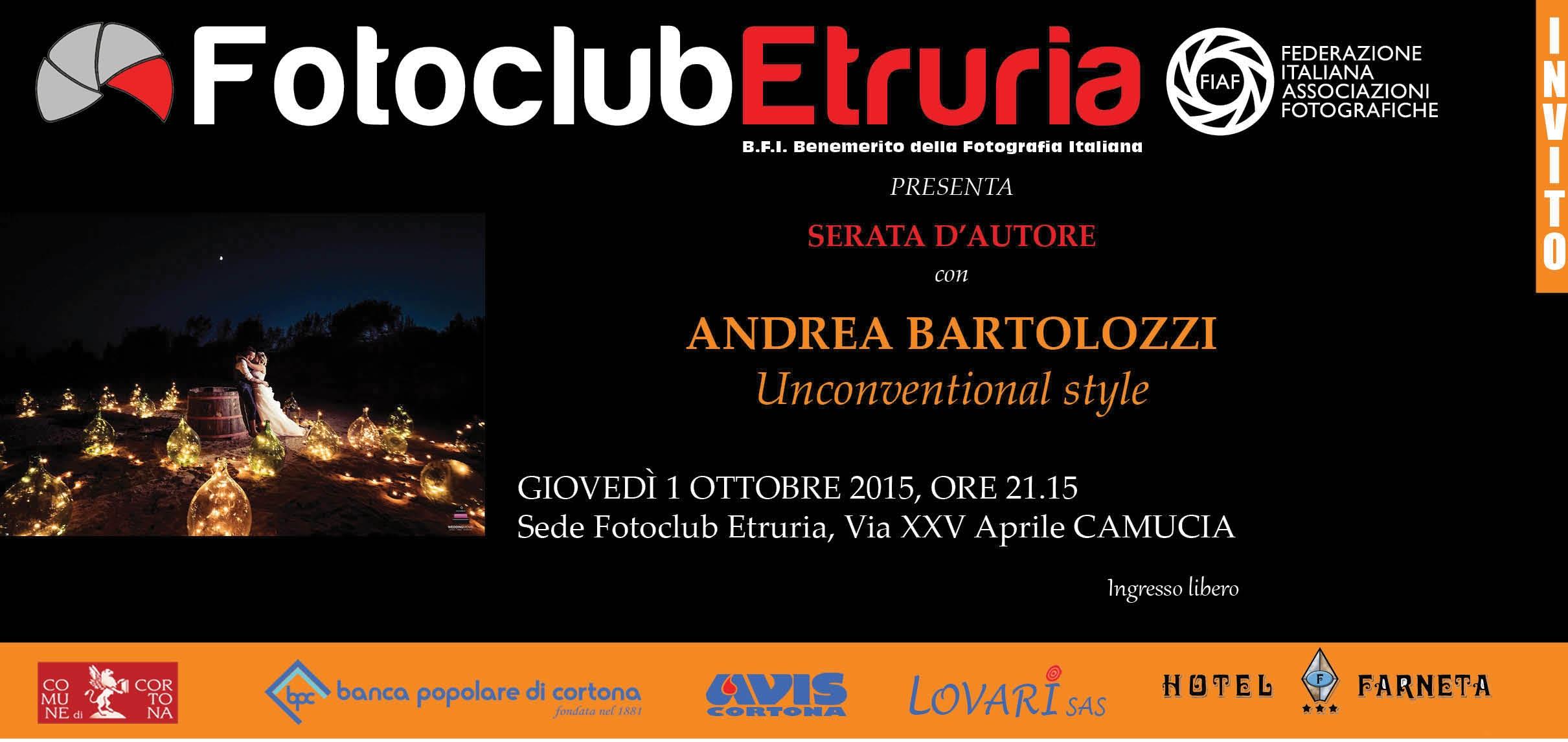 Incontro col fotografo Andrea Bartolozzi promosso dal Fotoclub Etruria