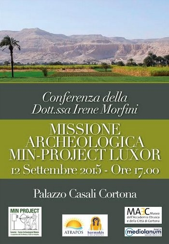 Missione Archeologica Min Project Luxor, conferenza a Cortona