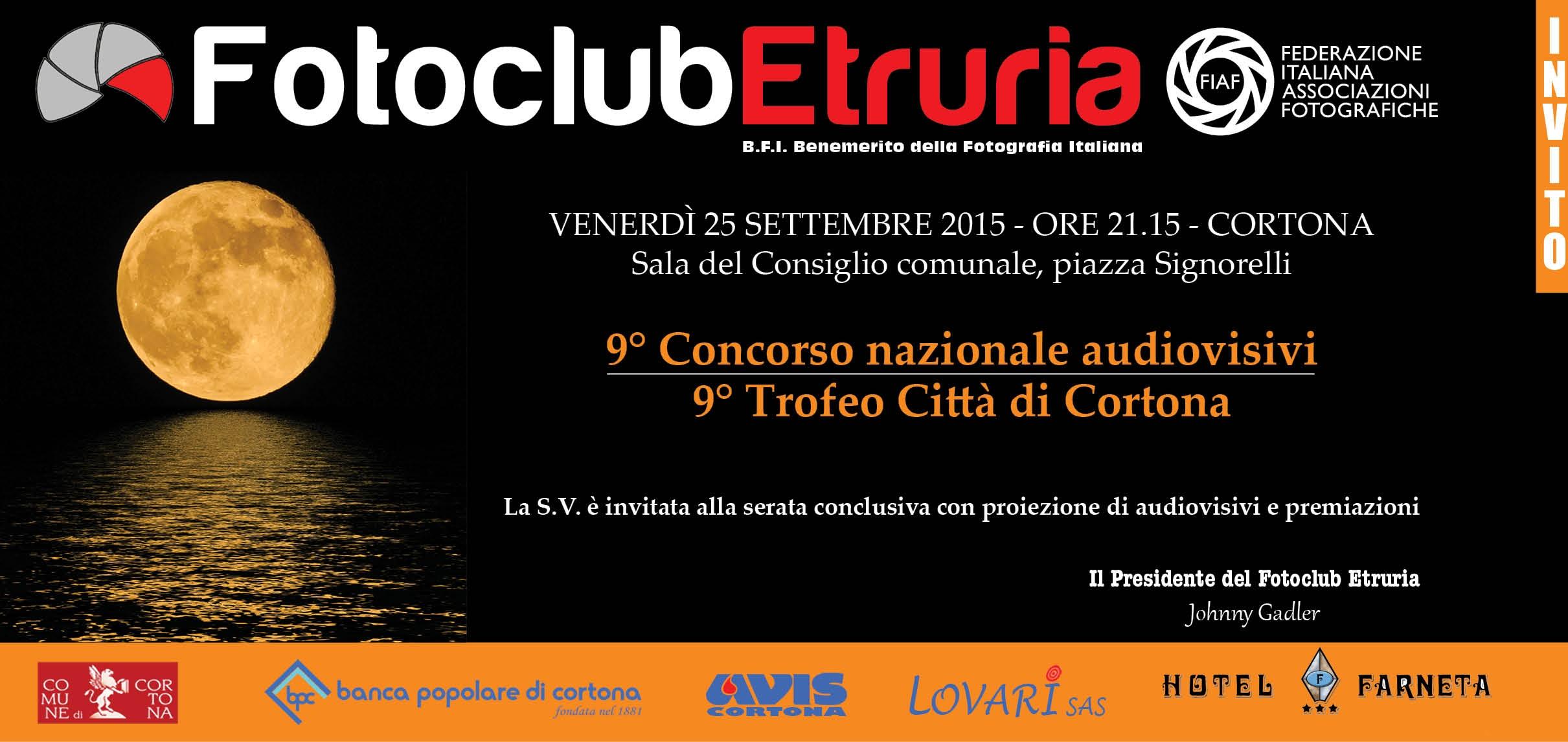 Concorso Nazionale Audiovisivi digitali del Fotoclub Etruria: venerdì la premiazione