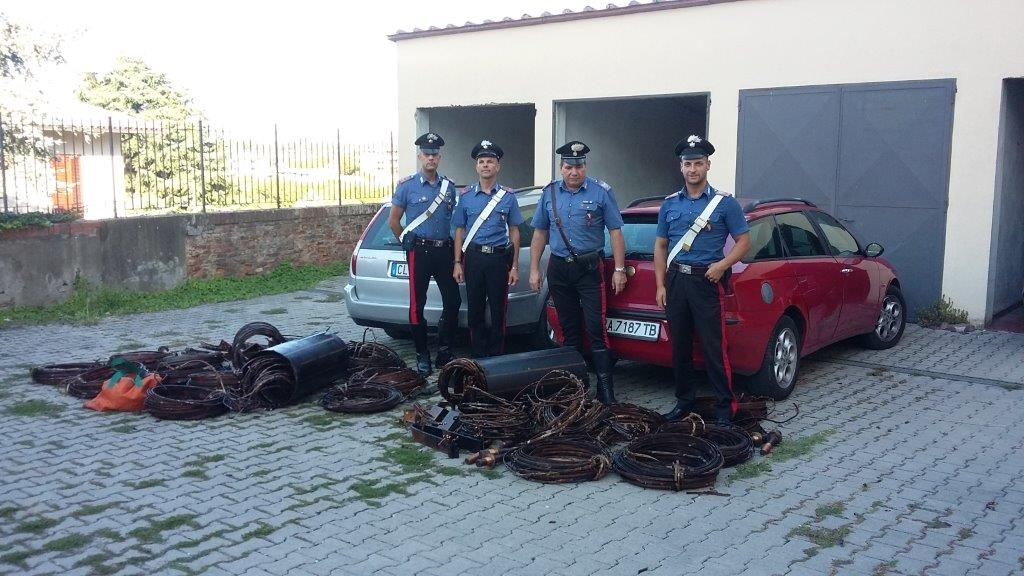 Furti di rame: Quattro rumeni arrestati dai Carabinieri