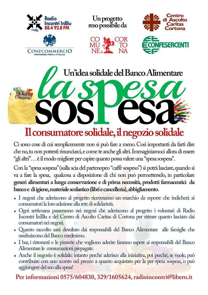 Spesa Sospesa: via al progetto a Cortona